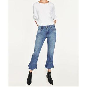 ✨GORGEOUS✨ Zara Mid-rise Jeans w/ Frill  🛎
